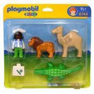 playmobil 1 2 3 v t rinaire animaux sauvages achat. Black Bedroom Furniture Sets. Home Design Ideas
