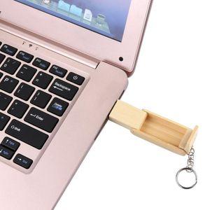 CLÉ USB Hot Vente de vente clé USB en bois 2.0 128Go flash