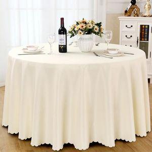 26 x 26 Pouces DEED Nappe de Table-Nappe Ronde pour Hôtels ...