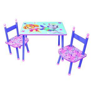 TABLE ET CHAISE Fun Pat Patrouille fille table et 2 chaises pour e