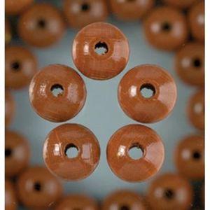 Naturel Perle en bois ronde Ø 12 mm lot de 30 perles