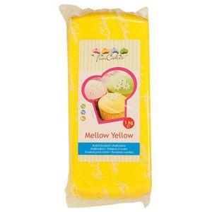 PATE A SUCRE Pâte à sucre jaune 1kg - FunCakes