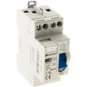 DISJONCTEUR Interrupteur différentiel 40/2 30 mA Type A Zenite