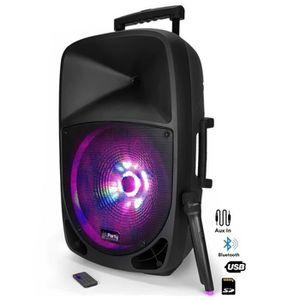 ENCEINTE ET RETOUR PARTY LIGHT & SOUND PARTY-12LED Enceinte portable