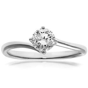 BAGUE - ANNEAU Revoni Bague Solitaire Diamant Or Blanc 750° Femme