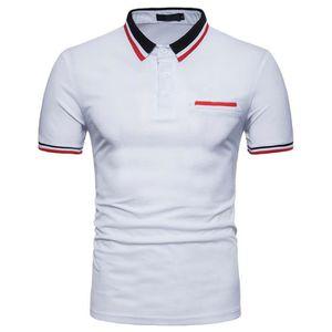 Footjoy Hommes Heather Rayure Polo T-Shirt Manche Courte Haut De Sport Top