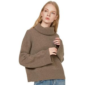 Womens Oversized 100 Cashmere Sweaterbell Sleeve Cropped