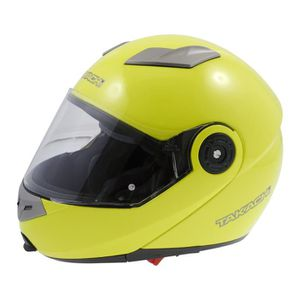 CASQUE MOTO SCOOTER Casque modulable TK380 fluo-jaune - taille XS TAKA
