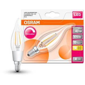 AMPOULE - LED OSRAM Ampoule LED E14 flamme claire 4,5 W équivale