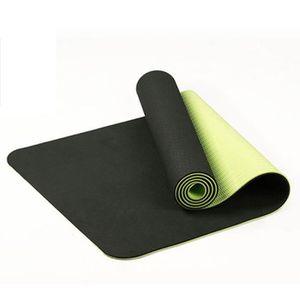 TAPIS DE SOL FITNESS Tapis De Yoga Antidérapant Bicolore Tpe De 6 Mm Ta