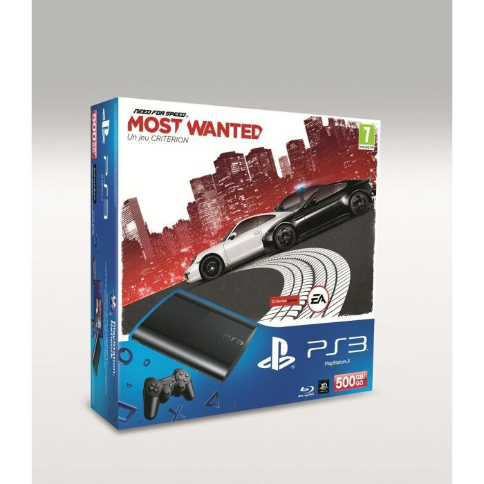 ps3 slim noire 500 go need for speed most wanted achat vente console ps3 ps3 slim noire. Black Bedroom Furniture Sets. Home Design Ideas