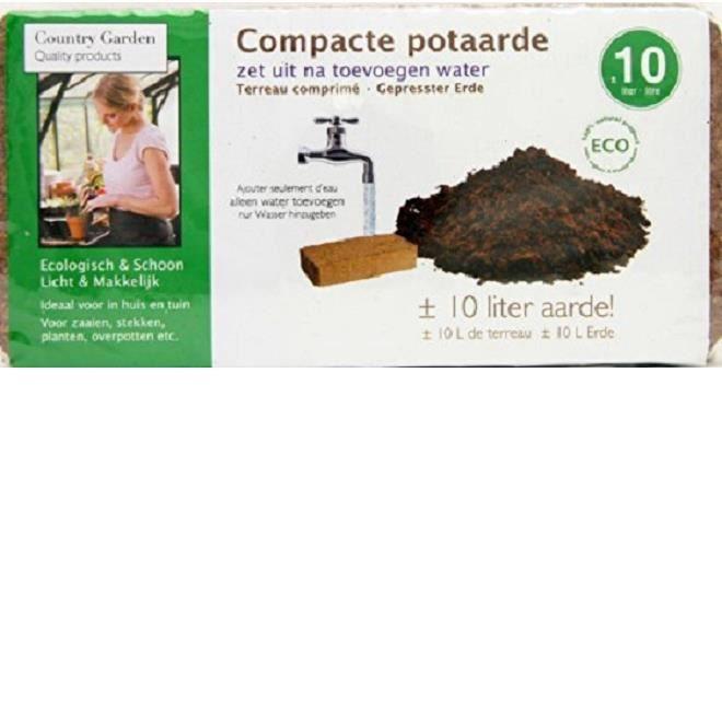 Terreau compresse terre brique coco - Jardinage jardin - 10L 650g - 166