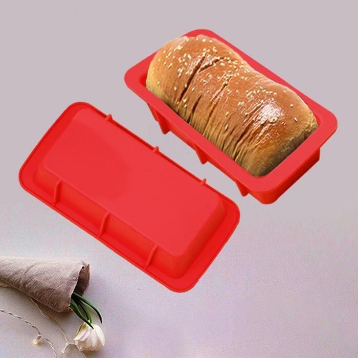 Moule à pain à pâtisserie rectangulaire antiadhésif en silicone