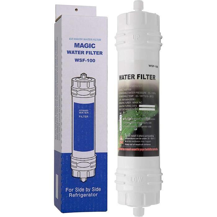Magic Water Filter WSF-100 - Filtre à Eau pour réfrigérateur Samsung - Cartouche filtrante Externe pour frigo américain - Filtre e