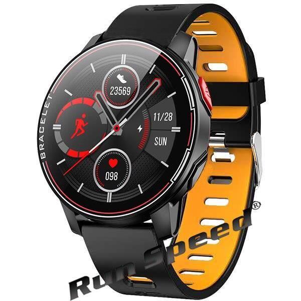 IP68 étanche montre intelligente Sport Fitness Tracker moniteur de fréquence cardiaque horloge intelligente Sport h - Black - WL9510