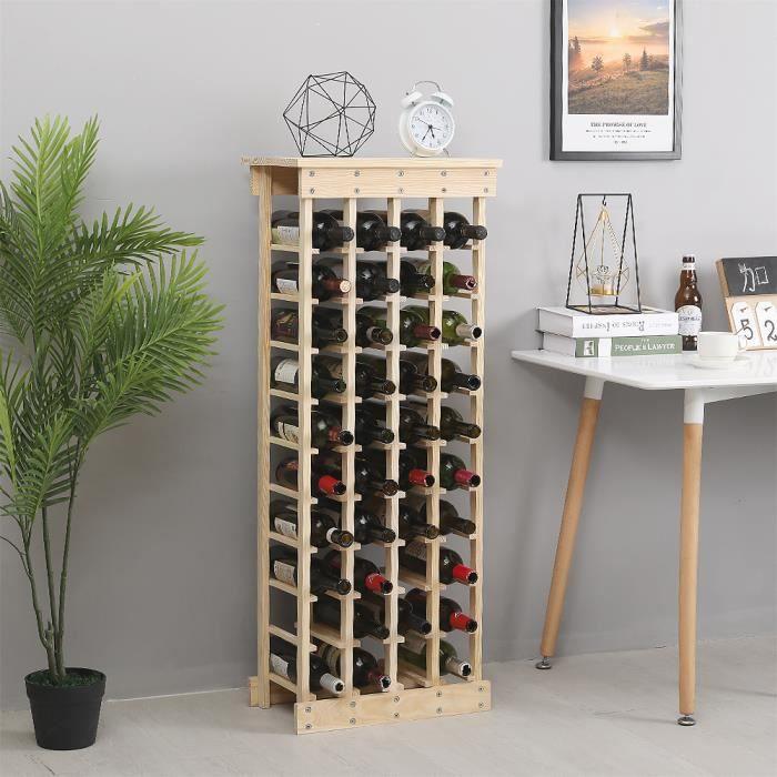 Cave à vin modulable à 44 Bouteilles, Étagère à bouteille, Casier à bouteille, Range bouteille, Porte bouteille