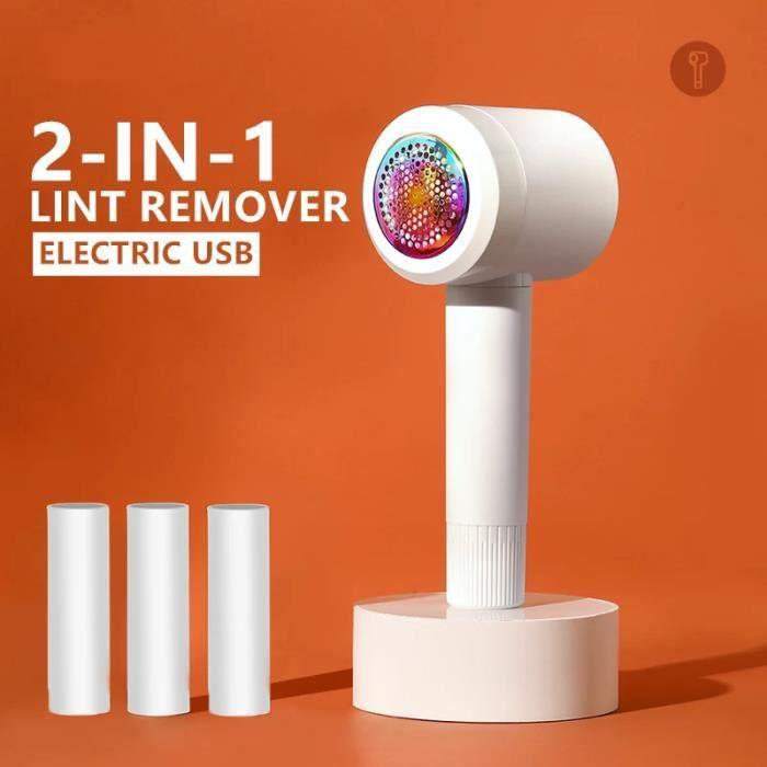 Rasoir Anti-Bouloche Tondeuse à Textile de USB Rechargeable Portable pour Vêtements de Chandails,Pulls Laine,Cachemire,Tapis Blanc