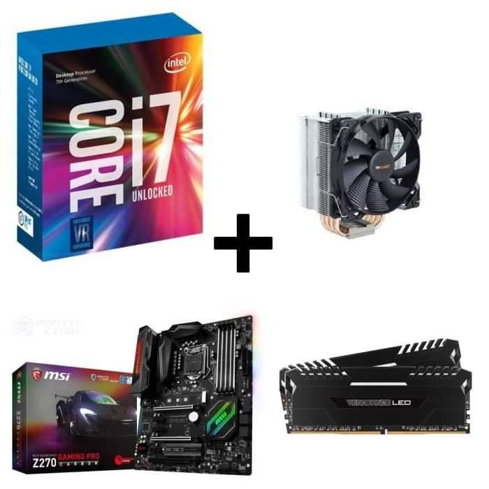 Kit Evo Core i7-7700K MSI Z270 GAMING PRO CARBON 32Go DDR4 2666MHz + Ventirad