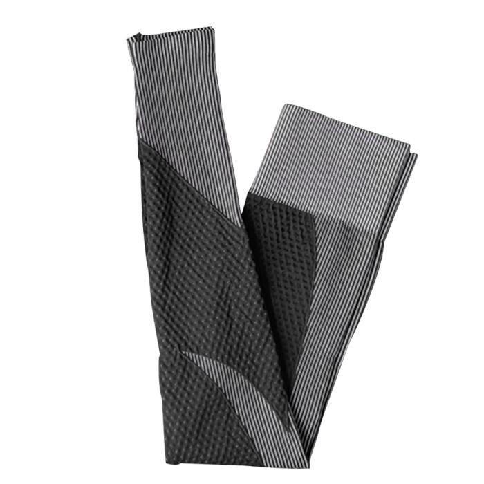 Pantalon de yoga Yoga Femmes Leggings Gym Yoga sans couture Collants Sportwear Noir XL