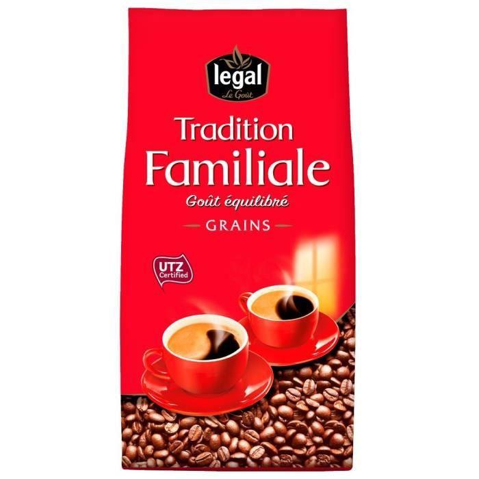 LEGAL Cafés Tradition Familiale Grains - 700 g