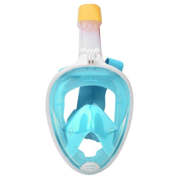 ☀ Silicone liquide tout visage sec en silicone pour adultes masque de plongée lunettes de plongée(vert L - XL)-☀GOL☀
