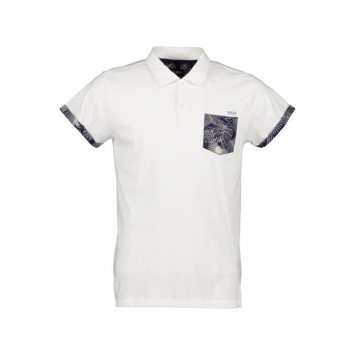 DEELUXE Polo à manches courtes SHAM White