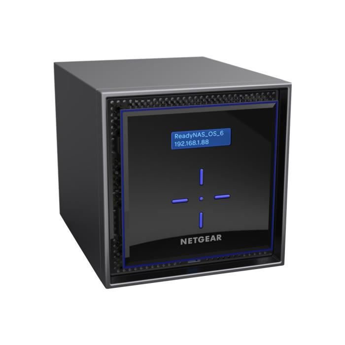 NETGEAR Système de stockage SAN/NAS ReadyNAS RN422E4 - 2 x Total de compartiments - 2 x 4 To HDD - Intel Atom Dual-core