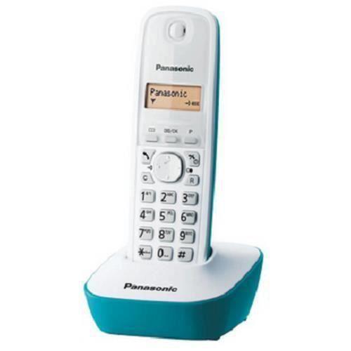 Panasonic KX-TG1611, Téléphone DECT, Haut-parleur, 50 entrées, Identification de l'appelant, Bleu, Blanc