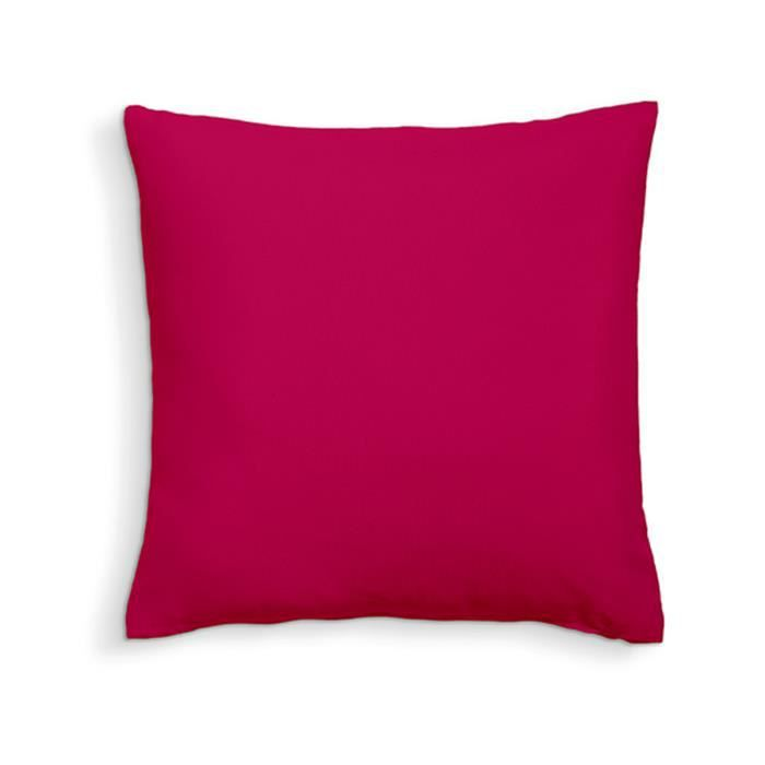 TODAY Coussin déhoussable 100% coton - 60 x 60 cm - Jus de myrtille