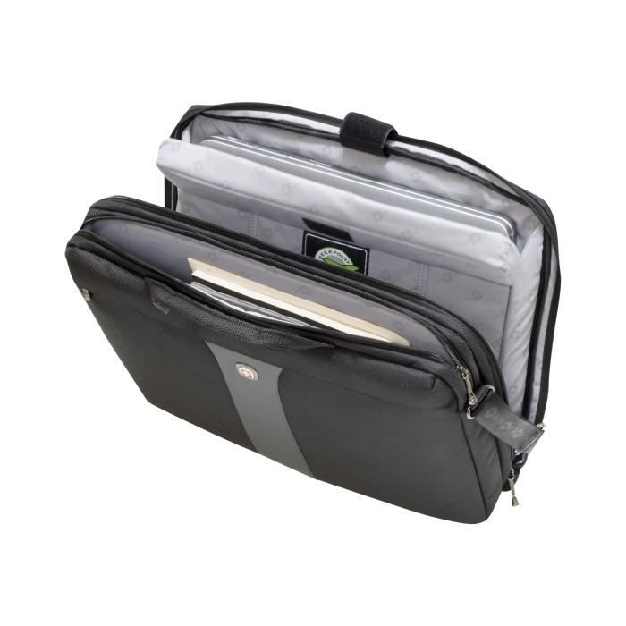 Wenger Legacy 17- Laptop Slimcase Housse d'ordinateur portable 17- noir-gris