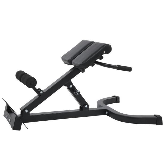 Zerodis Équipement de fitness Banc d'Hyperextension Pliable d'Entraînement Multifonction Chaise d'Exercice Réglable de Gym Maison
