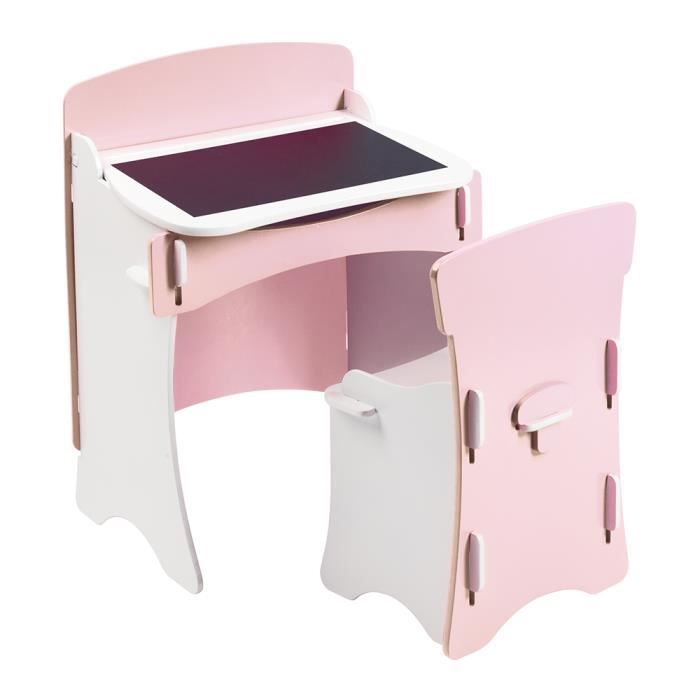 pupitre bureau en bois rose avec tableau achat vente. Black Bedroom Furniture Sets. Home Design Ideas