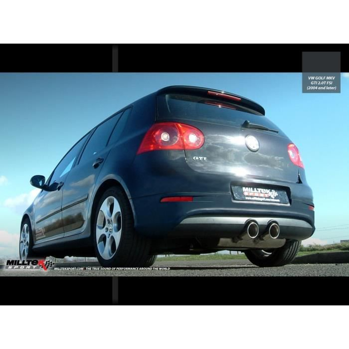ligne inox apr s catalyseur vw golf 5 gti 2 0 t achat. Black Bedroom Furniture Sets. Home Design Ideas