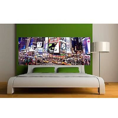 sticker t te de lit d coration murale new york r f 3623 5 dimensions dimensions 160x62cm. Black Bedroom Furniture Sets. Home Design Ideas