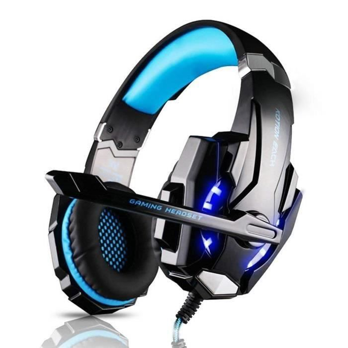 CASQUE AVEC MICROPHONE Casque Gamer Micro Casque Gaming Audio Stéréo Bass