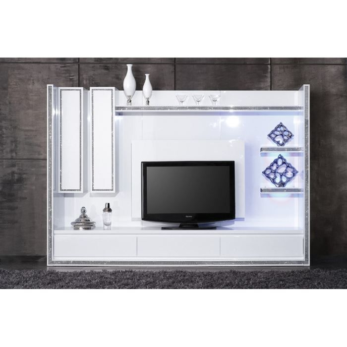 meuble tv design collection diamonds blanc achat vente meuble tv meuble tv design. Black Bedroom Furniture Sets. Home Design Ideas