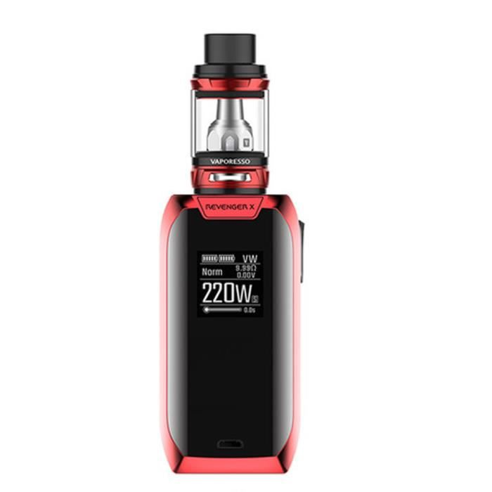 Original Vaporesso Revenger X 220W TC Kit Cigarette Electronique avec 2pcs 18650 accus GOBRO