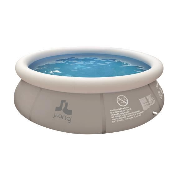 Piscine autoportante grise 450x106cm achat vente for Piscine autoportante