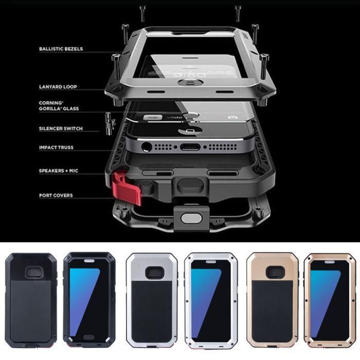 coque iphone 7 anti choc noir