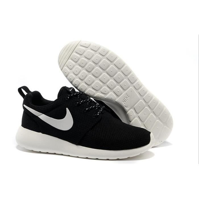cheap for discount 01949 bc3f7 Nike Roshe Run Femme Homme Sports Running basket Chaussures Noir