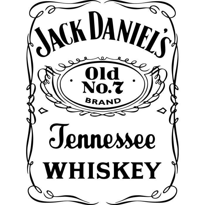 sticker N°6 autocollant JACK DANIEL'S taille total 17,5 par 13 cm