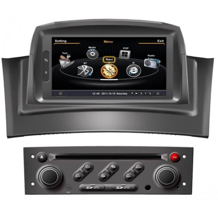 autoradio gps bluetooth pour renault megane 2 kangoo i phase 2 achat vente autoradio. Black Bedroom Furniture Sets. Home Design Ideas