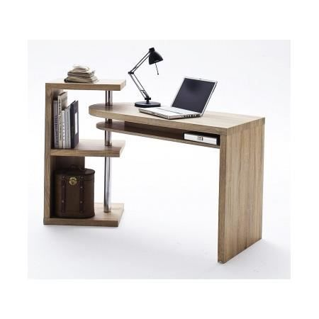 bureau design en bois avec plateau pivotant space achat vente bureau bureau design en bois. Black Bedroom Furniture Sets. Home Design Ideas