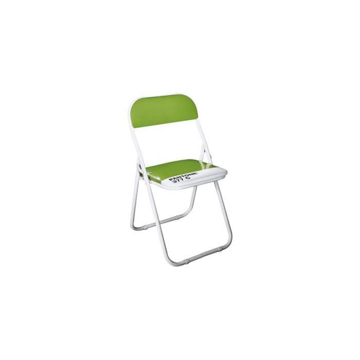seletti b b chaise pliante pantone vert achat vente chaise vert cdiscount. Black Bedroom Furniture Sets. Home Design Ideas