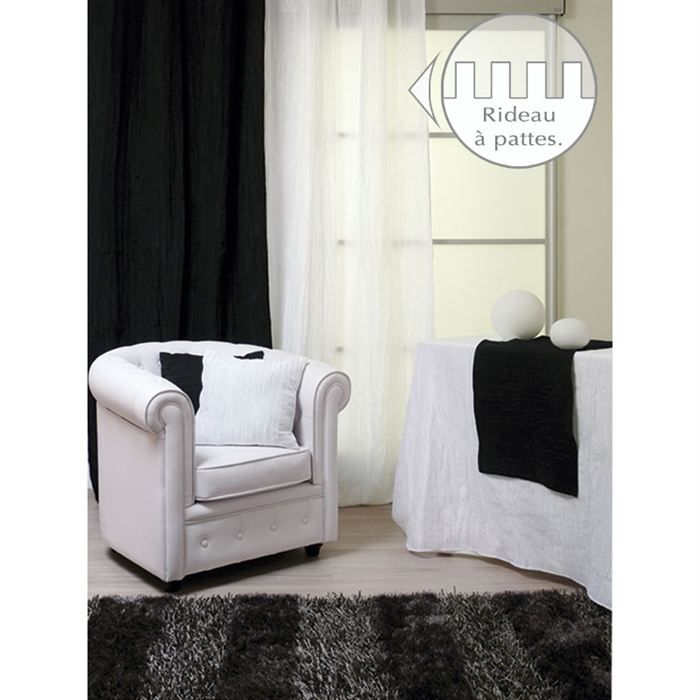 rideau a pattes 140x250 bambou blanc effet froisse achat vente rideau bambou 100 polyester. Black Bedroom Furniture Sets. Home Design Ideas