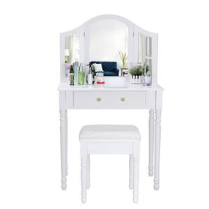 coiffeuse d angle achat vente coiffeuse d angle pas cher cdiscount. Black Bedroom Furniture Sets. Home Design Ideas