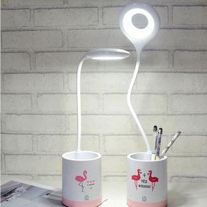 LAMPADAIRE Lampe tactile à DEL rechargeable par USB 3 réglage