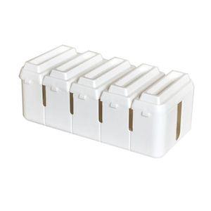 CACHE PRISES - CÂBLES Range-cables Boîte cache cables Forme de chocolat