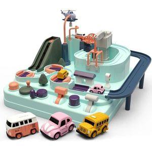 LIVRE INTERACTIF ENFANT MOGOI Wagon jouet de piste de voiture Slide Aventu
