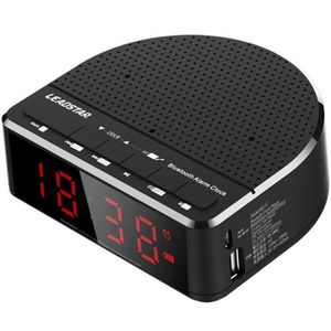 Radio réveil LEADSTAR MX-17 Radio Réveil LED Bluetooth Subwoofe